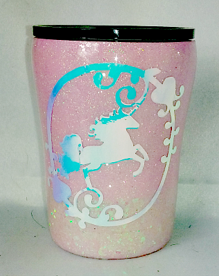 Pink Unicorn Custom 10 oz Tumbler