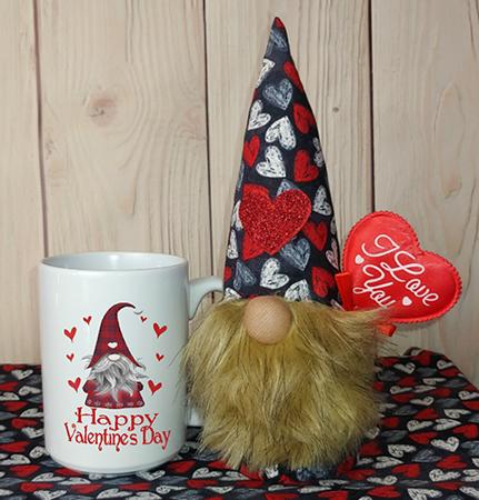 Happy Valentines Day Gnome In A Mug