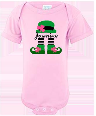Leprechaun Girl Personalized Infant Onesie