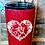 Thumbnail: 20 oz. Red Glitter White Roses Heart Monogram Custom Travel Mug