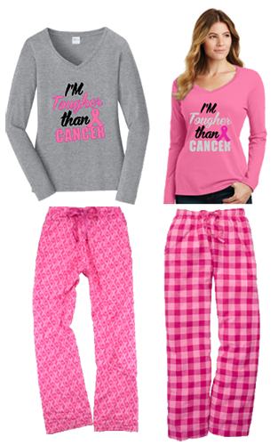 I'm Tougher Than Cancer Flannel Pant Set