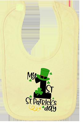 1st St Patricks Day Tophat Bib