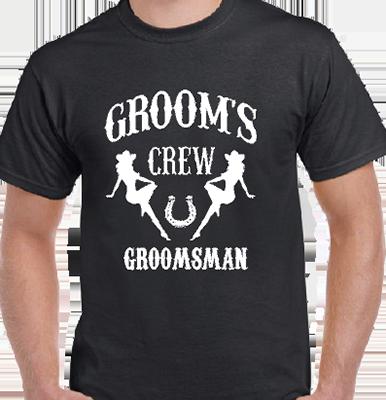 Grooms Crew Groomsman CG Grooms Tee