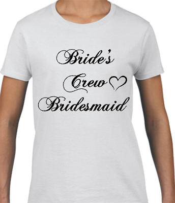 Brides Crew Bridesmaid Bridal Tee