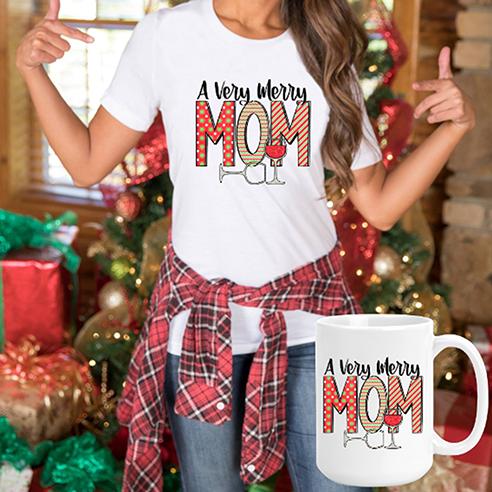 Very Merry Mom Tee