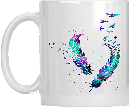 Feather Birds Mug