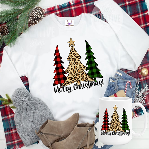 Merry Christmas Trees Sweatshirt