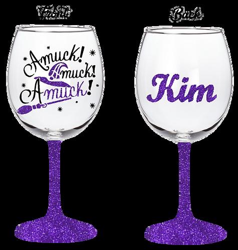 20oz Halloween Amuck Amuck Amuck Wine Glass