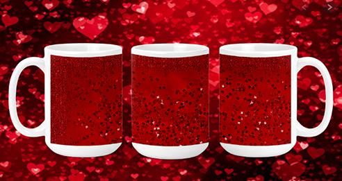 Red Sparkle 15oz Valentine Mug