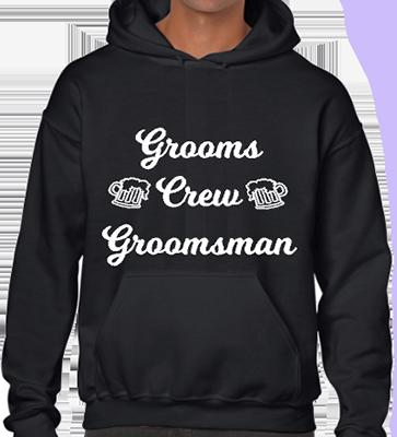 Grooms Crew Groomsman Hoodie