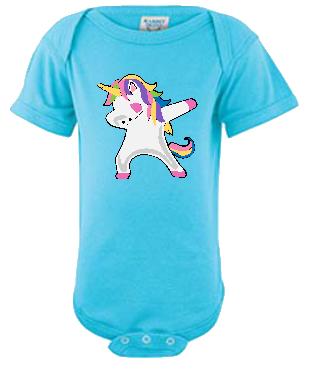 Dabbin Unicorn Infant Tee or Onesie