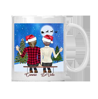 Best Friends Merry Christmas Mug