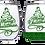 Thumbnail: 21oz Stemless Christmas Tree Wine Glass