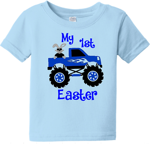 Monster Truck 1st Easter Infant Tee
