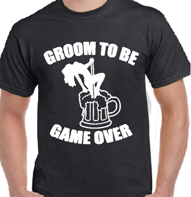 Groom To Be Game Over Bridal Tee