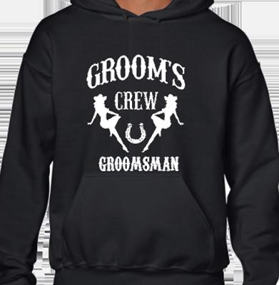 Grooms Crew Groomsman CG Hoodie