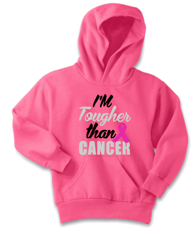 Youth Cancer Awareness Fleece Pullover Hoodie