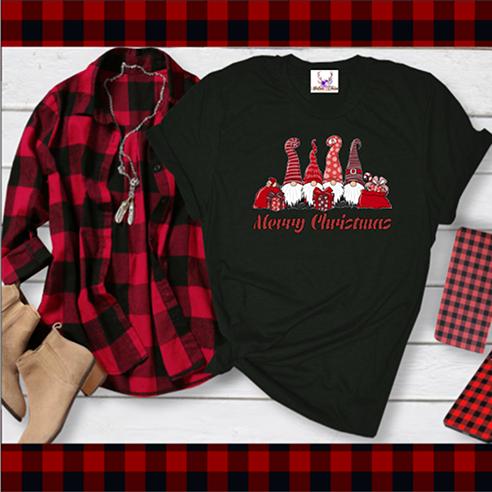 Merry Christmas Gnomes Tee