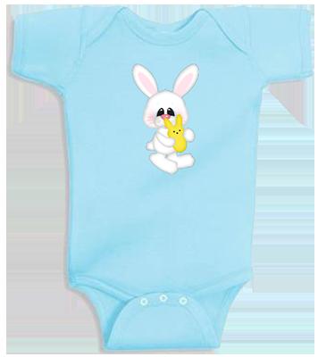 Bunny w/ Yellow Peep Infant Onesie