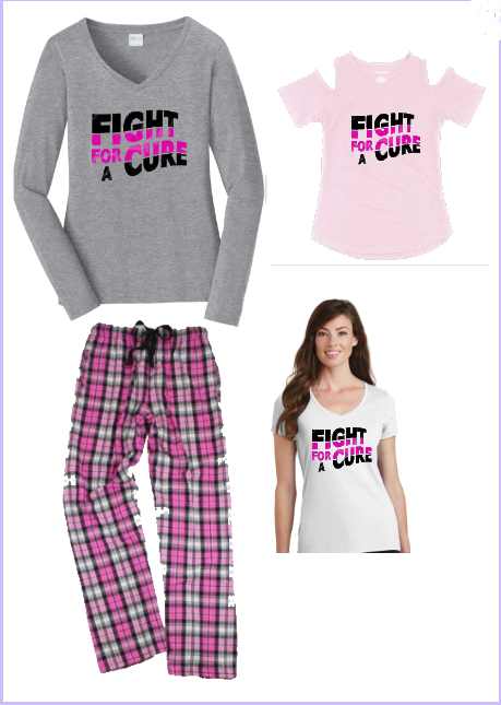 Fight For A Cure Flannel Pant Set