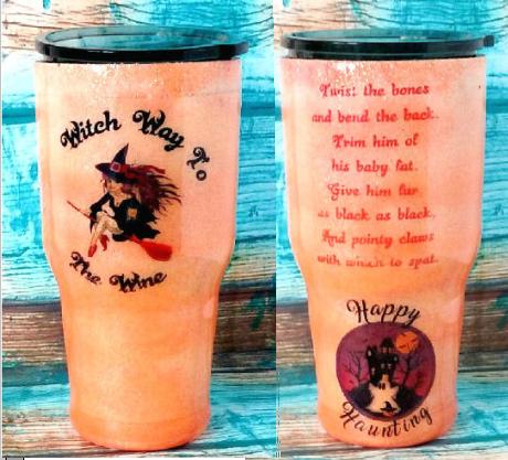 Witch Way To The Wine Travel Mug