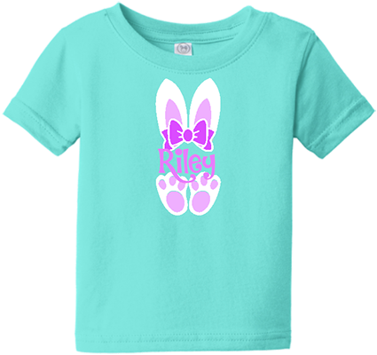 Bunny Ears with Name Infant/Toddler Girls Tee