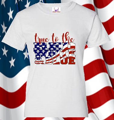 True To The Red White & Blue Tee