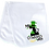 Thumbnail: 1st St Patricks Day Tophat Ruffled or Scallop Edge Burp Cloth