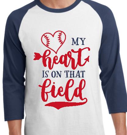 My Heart Is On That Field Raglan