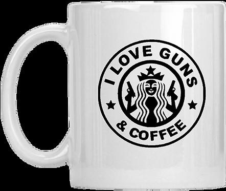 I Love Guns & Coffee Mug