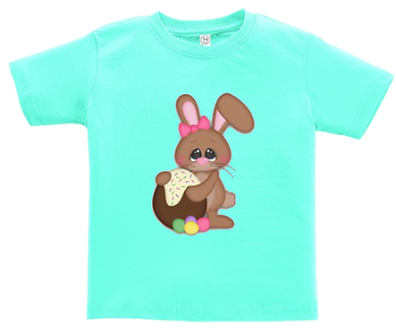 Chocolate Egg Bunny Infant/Toddler Girl Tee