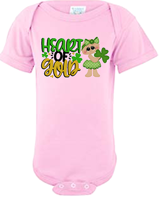 Heart of Gold Girl Infant Onesie
