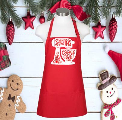 "Santa's Cookie Crew 24"" 3 Pocket Apron"