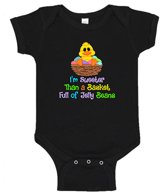 Sweeter Than A Basket of Jelly Beans Infant Girls Onesie