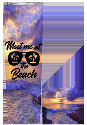 Meet Me At The Beach 20 or 30 oz Summer Wrap Tumbler