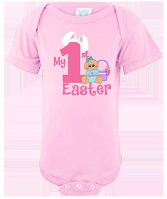 Baby Girl 1st Easter Infant Onesie