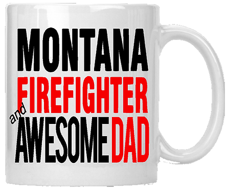 State Firefighter & Awesome Dad Coffee Mug