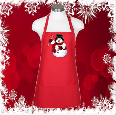 "Snowman 24"" 3 Pocket Apron"