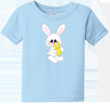 Bunny w/ Yellow Peep Infant/Toddler Tee