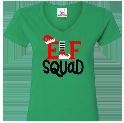 Elf Squad V Neck Tee