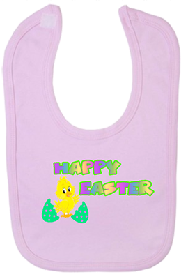 Happy Easter Chick Bib