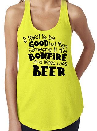 I Tried To Be Good Racerback Tank Top