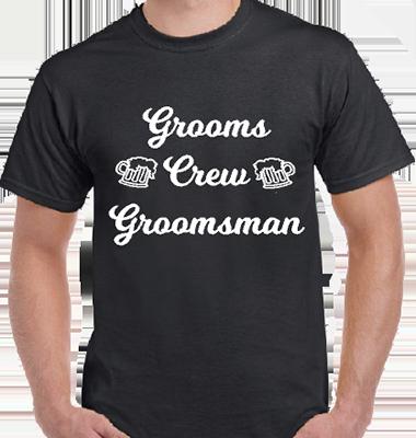 Grooms Crew Groomsman Grooms Tee