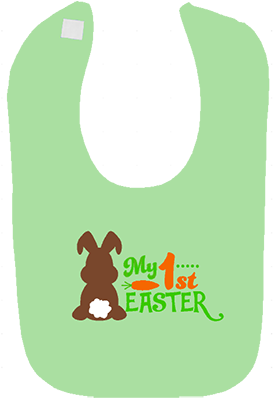 1st Easter Chocolate Bunny Boys Bib