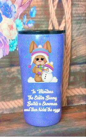 20 oz Montana Easter Bunny Custom Tumbler