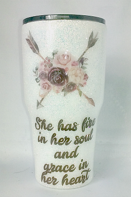 She Has Fire In Her Soul Custom 30 oz Tumbler