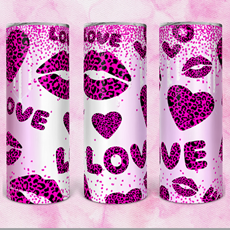 Pink Leopard Love 20 or 30oz Custom Tumbler