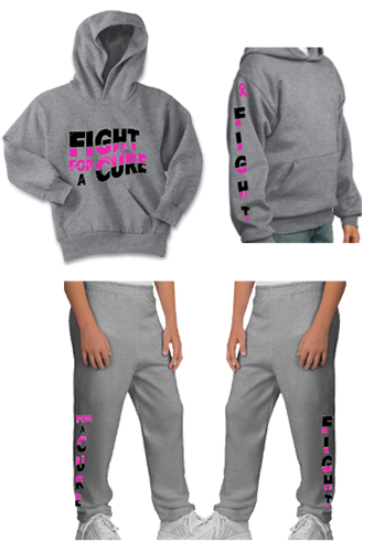 Youth Fight For A Cause Sweat Set