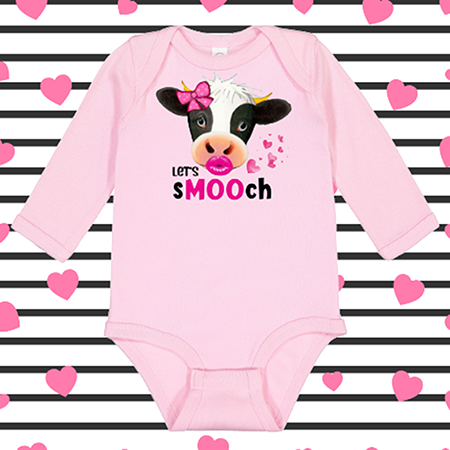 Lets Smooch Onesie or Toddler Tee