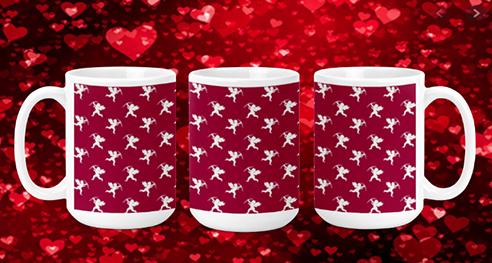 White Cupids 15oz Valentine Mug
